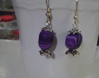 Purple Easter Egg Earrings - Free Shipping