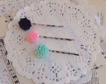 Planner Clips, Flower Bobby Pins, Hair Clips, Planner Accessories, Planner, Hair Accessories, Planner Accessories, Bobby Pins, 025