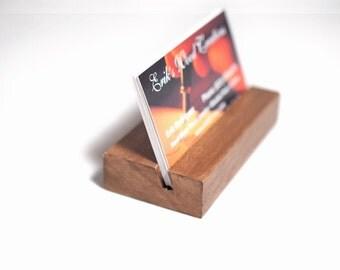 business card holder or wedding card holder rustic card holder wood bisiness card holder