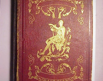 1848 The Poetical Works of Mrs Felicia Hemans , Antique Poetry Book