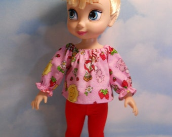 Disney Animators' Doll Sized Strawberry 2 pc Outfit