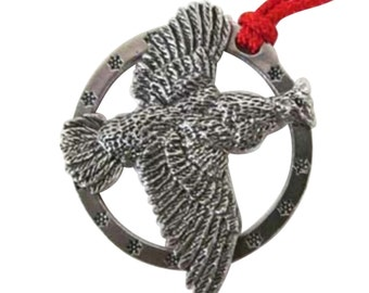 Pewter ~ Grouse Flying ~ Small ~ Holiday Ornament ~ B029OR