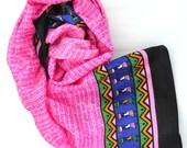 pink scarf indian scarves handmade vegan silk shawl small shawls sanskrit girl power boho bohemian festival scarf