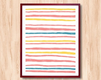 Striped Pattern - Instant Download, illustration, Abstract Print, wall art, Home Decor, Kids Room Art, Children Room Art, Wall Art