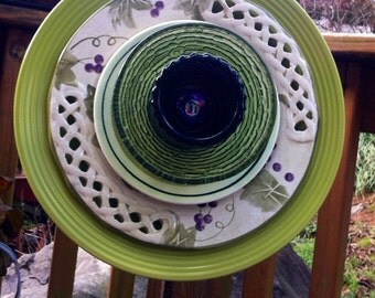 Glass Garden Flower-Grape Wine Fleamarket Gardening