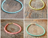 choose your colour turquoise seafoam coral lime bracelet beach surfing slimline holiday