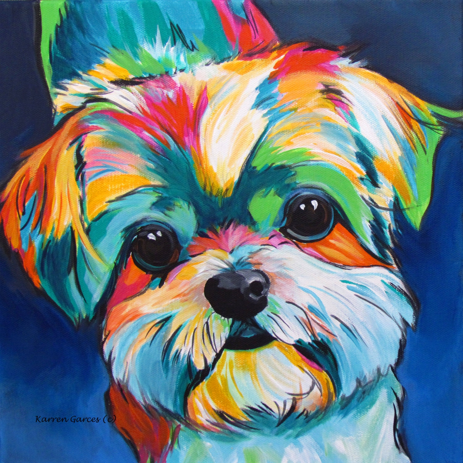 Shih Tzu Art Dog Art Shih Tzu Lovers Dog Lovers Gifts