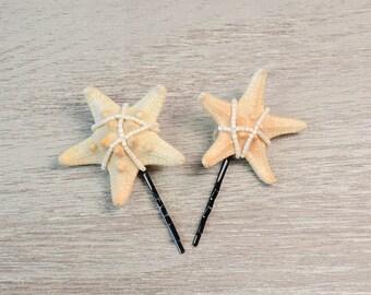 Mini Starfish Hair Pin Starfish Hair Accessory Starfish Hair Clip Starfish Headpiece Mermaid Beach Wedding Barrette Hair Bobby pin bohemian
