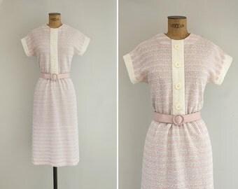 1970s Dress - Vintage 70s Knit Striped Dress - Gelato Preferito Dress