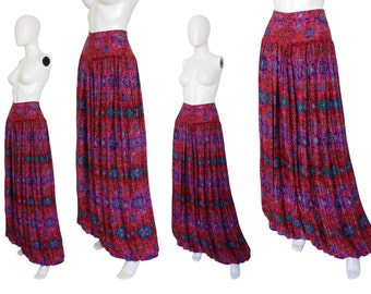 Emanuel Ungaro Vintage Palazzo Pants Harem Trousers Pleated Balloon Pants Magenta Pink Size 6 Small