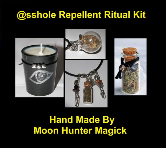 The @sshole Repellent© Ritual Combo Kit Banishing Shielding Ritual Kit