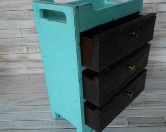 Beach Inspired Organizer -Jewelry Box - Desk Organizer - Office Storage Box - Aqua Organizer - Toiletry Holder- Storage Box - Upcycled Box
