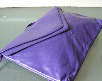 Vintage XLarge Purple Clutch Made in Italy