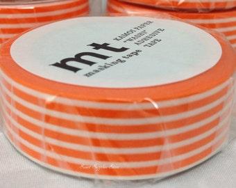 mt 1P Border Orange Japanese Washi Tape Masking Tape Deco Tape Paper Tape (MT01D321)