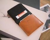 "Nexus 6 Case, Nexus 6 Wallet, suits Nexus 6P, ""Kangaroo"" - leather, wool felt"