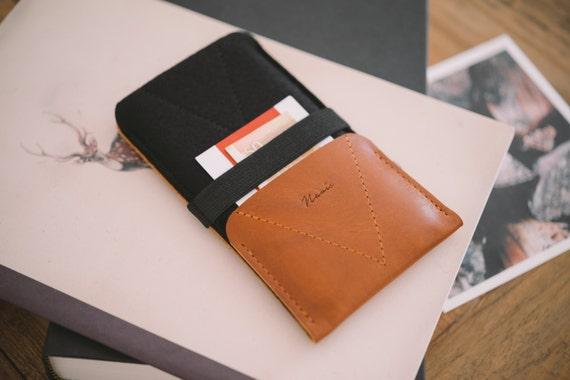 """Google Pixel XL Case, Pixel XL Wallet, leather, wool felt, """"Kangaroo"""""""