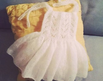 6-12 months Sitter Size lace Fairy dress  with bloomers / Baptismal dress / Photography Prop