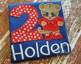 Daniel Tiger Birthday Custom Tee Shirt - Customizable -  Infant to Youth 51