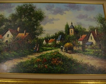 Paul Valere Original Oil Painting on Canvas 24x36 French