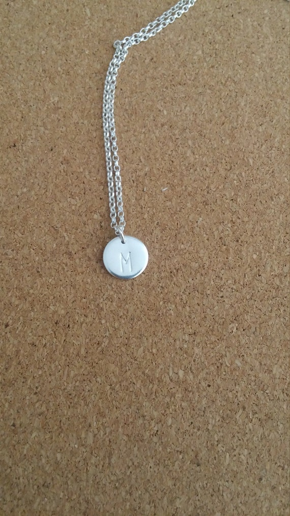 children jewelry initial necklace name pendant silver