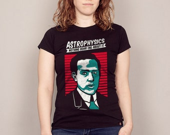 Astrophysics: Nothing Bohring About It T-shirt funny science tshirt, physics t-shirt, nerdy geeky t-shirt Mens and Ladies sizes