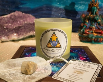 Fertility- Reiki Healing Candle & Crystal