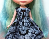 BLYTHE doll Halloween party dress - scary night