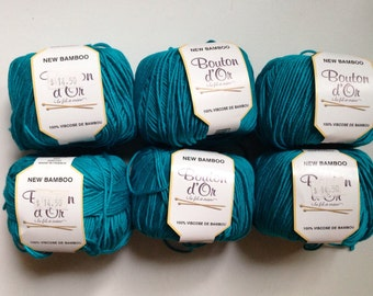 55% Off Bamboo Yarn from Bouton d'Or DK Aqua
