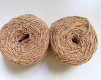60% Off 2 Organic Handspun Natural Cotton Yarn Thick and Thin 600 yards 7 oz