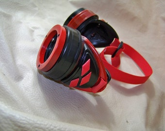 Slightly Distressed Super Villainess Harley Quinn Steampunk Goggles