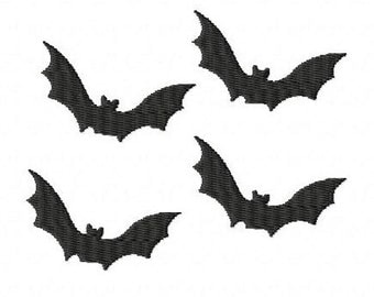 Halloween bats machine embroidery design 3 inch instant download