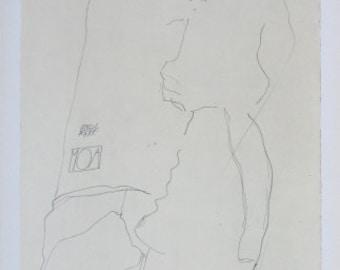 "Schiele Egon, Lithograph, ""The Dancer Moa"""