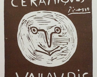 """Picasso 93 """"Exposition  Ceramiques 1958""""  printed 1959 Mourlot Art in posters"""