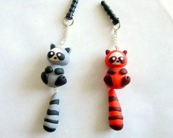 Red Panda/Raccoon Dangle Phone Charm Sculpture
