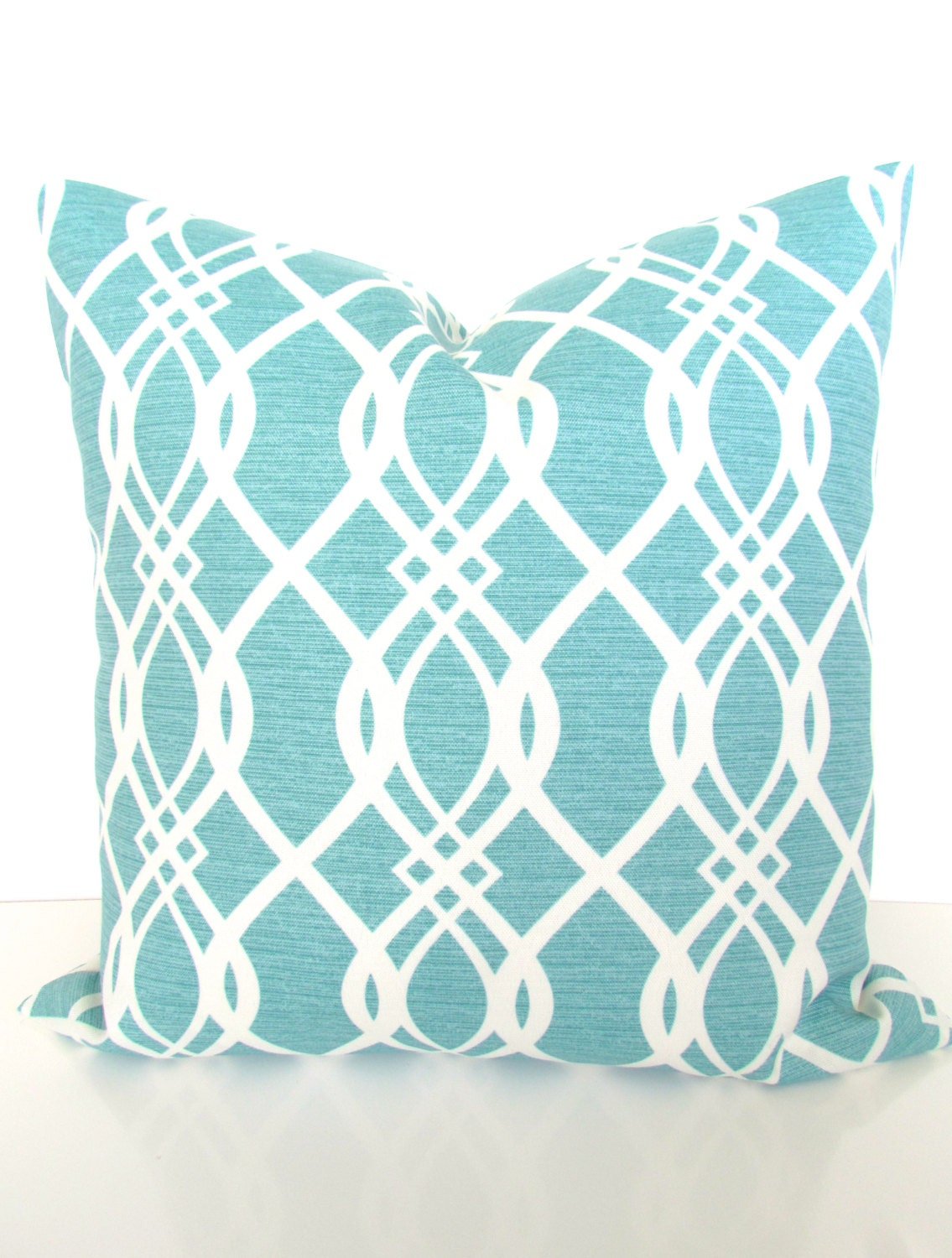 Throw Pillow Turquoise : Mint Outdoor Pillows TURQUOISE OUTDOOR Throw Pillow Covers