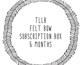 September-February SIX MONTH Single Embellished Felt Bow Monthly Subscription Membership