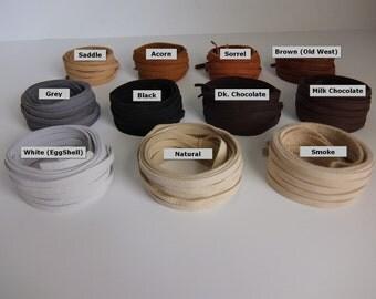"""Deerskin Leather Lace 3/16"""" - 5mm x 40 inches Long Premium Grade.  17 Total Feet  Deerskin Lace, Deerskin, Deer, Leather,  Black, Deerskin"""