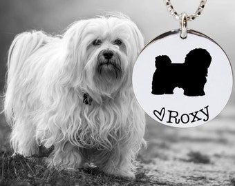 Havanese Necklace | Havanese Jewelry | Personalized Dog Necklace | 925 Sterling Silver Necklace by Korena Loves