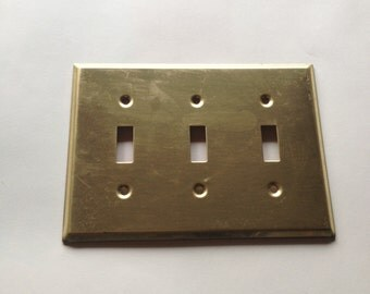 1 brass electrical triple switch cover electrical switch covers decorative switch plate outlet cover