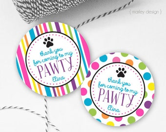 Puppy Party Favor Tags Printable Dog Party Favor Tags Puppy Favor Tags Dog Favor Tags Puppy Birthday Dog Birthday Decor Thank You Tags Label