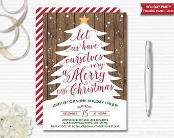 Christmas Invitation Rustic Holiday Party Invitation Holiday Invitation Christmas Party Christmas Tree Printable Digital Rustic Christmas