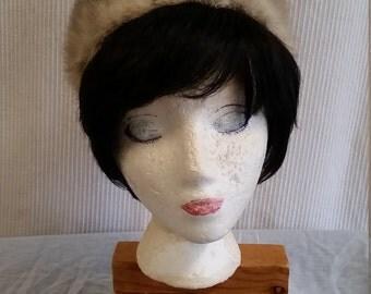 1960s silver fox hat