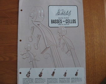 1969-70 Kay by Valco Basses and Cellos folder, pricelist and letterhead