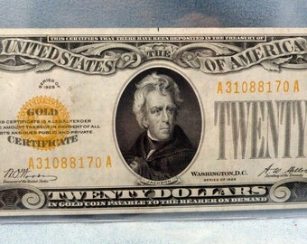 1928 20 Dollar Gold CERTIFICATE - FR 2402 A31088170A Product Sku: PM-1012