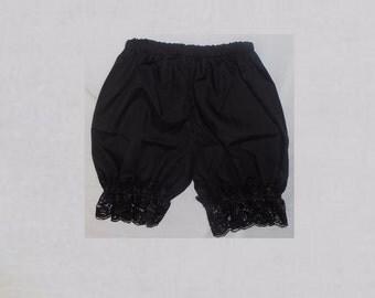 Bloomers Toddler girl 2 slim Black Pantaloon Lace dressy Handmade Photo prop
