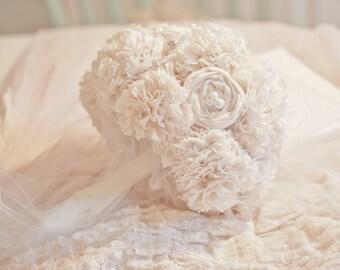 Natural Cotton Bridal Boquet