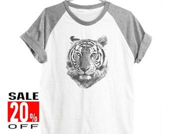 Tiger tshirt animal tshirt women top workout tshirt graphic tee short sleeve shirt men shirt size S M L