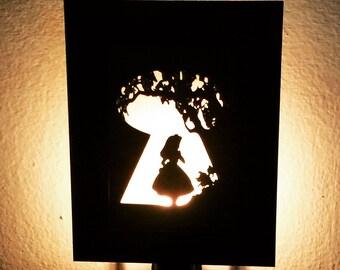 Alice In Wonderland Inspired Night Light