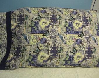 SALE!!!  Butterflies and Blue Birds/Pillowcase