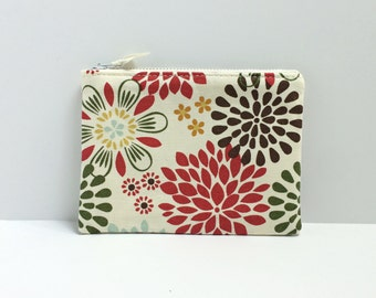 Small Square coin purse - Kennedy floral